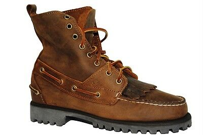 Sebago Mens Boy's Brown Leather Nubuck Lace Up Ankle Boots by Ronnie Fieg UK 6.5