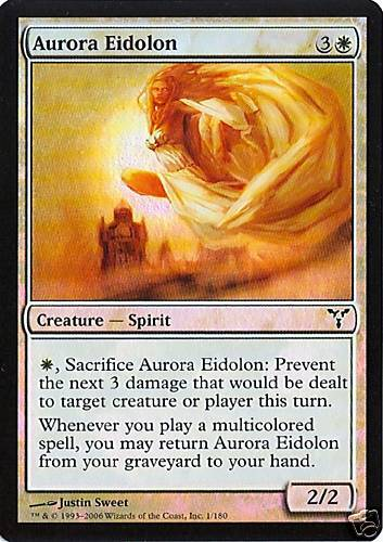 Dissension Foil NM Aurora Eidolon 2X MTG
