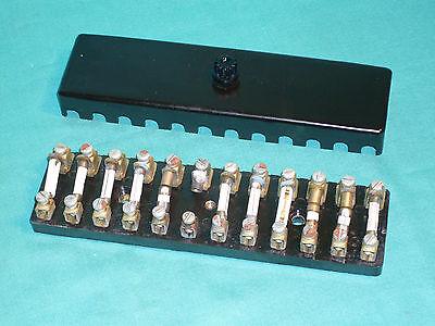 porsche 356 pre a 356 sl gmÜnd bakelit fuse panel box with cover | ebay  ebay