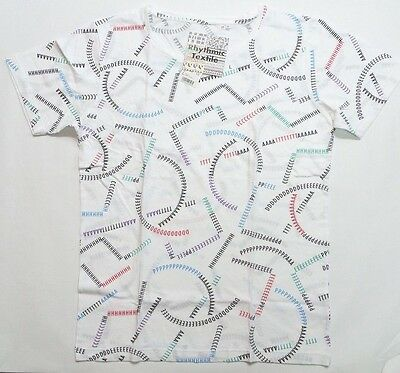 UNIQLO Rhythmic Textile GRAPHIC SHORT SLEEVE T SHIRT White (077664)