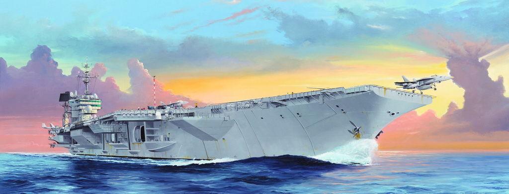 Trumpeter 05619 - 1 350 USS Kitty Hawk CV-63 - Neu  | Sale Online Shop
