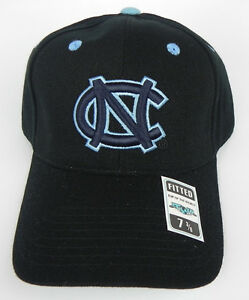 NORTH-CAROLINA-TAR-HEELS-BLACK-NCAA-VINTAGE-FITTED-SIZED-TOW-CAP-HAT-NWT