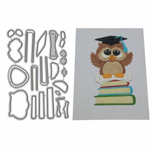 CUTE OWL METAL CUTTING DIES DIY SCRAPBOOKING CARDS ALBUM CRAFT STENCIL NEW
