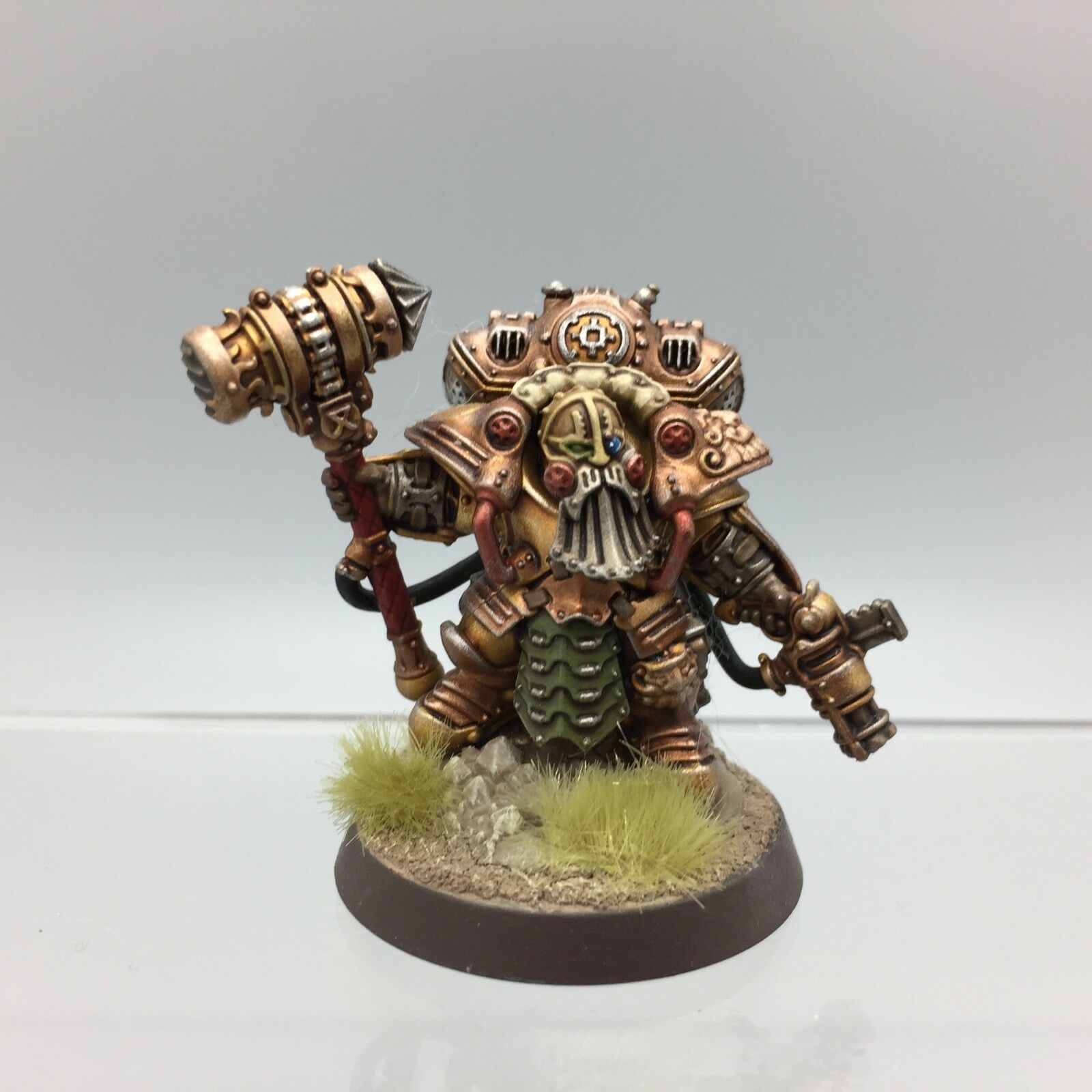 WARHAMMER AGE OF SIGMAR KHARADRON OVERLORDS ARKANAUT ADMIRAL PAINTED & BASED