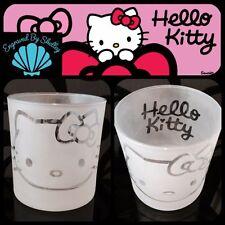 Regalo Personalizado Hello Kitty De Cristal Hecho A Mano Libre Mensaje Personalizado Grabado!