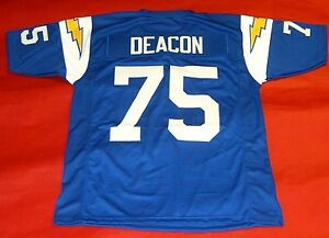 huge selection of 6e158 c76c7 Details about DAVID DEACON JONES CUSTOM SAN DIEGO CHARGERS THROWBACK JERSEY  LOS ANGELES