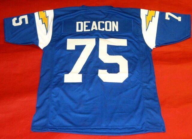 DAVID DEACON JONES CUSTOM SAN DIEGO CHARGERS THROWBACK JERSEY LOS ...