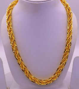 22 K Yellow Gold Foxtail Style Heavy Curb Chain Fabulous Chain Design For Men Ebay