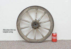 Vintage-old-wooden-cart-wagon-wheel-45-5-cm-4-6-kg-FREE-DELIVERY