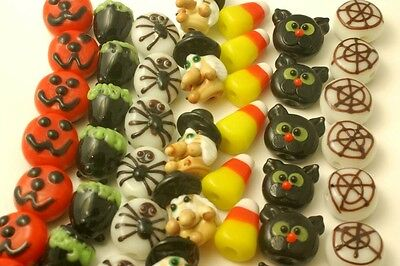 70 Halloween Lampwork Glass Beads WHOLESALE #9