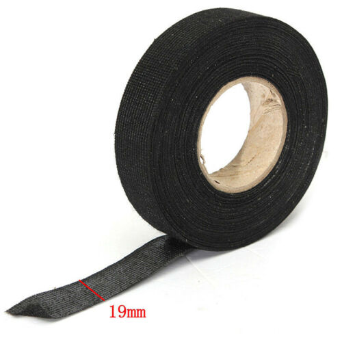 15//25//50M Adhesive Fabric Cloth Tape Cable Looms Wiring Printing Masking Tool
