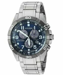 Citizen-Men-039-s-Perpetual-Chronograph-Blue-Dial-Watch-BL5558-58L-New-in-Box