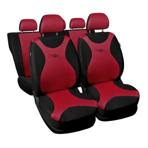 Universal Autositzbezüge für Volkswagen Polo Rot Sitzbezüge Schonbezüge Turbo