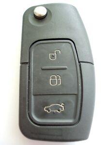 Recambio-de-3-Botones-Llave-Plegable-Funda-para-Ford-C-Max-S-MAX-Focus-Mondeo