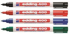 Edding-400-Permanent-Marker-Permanentmarker-1mm-fein-Schwarz-Rot-Blau-Gruen