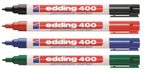 Rot Blau Grün 1mm fein Schwarz Edding 400 Permanent Marker Permanentmarker
