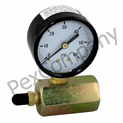 "60 PSI Gas / Air Test Gauge Pressure 3/4"" FPT Body"