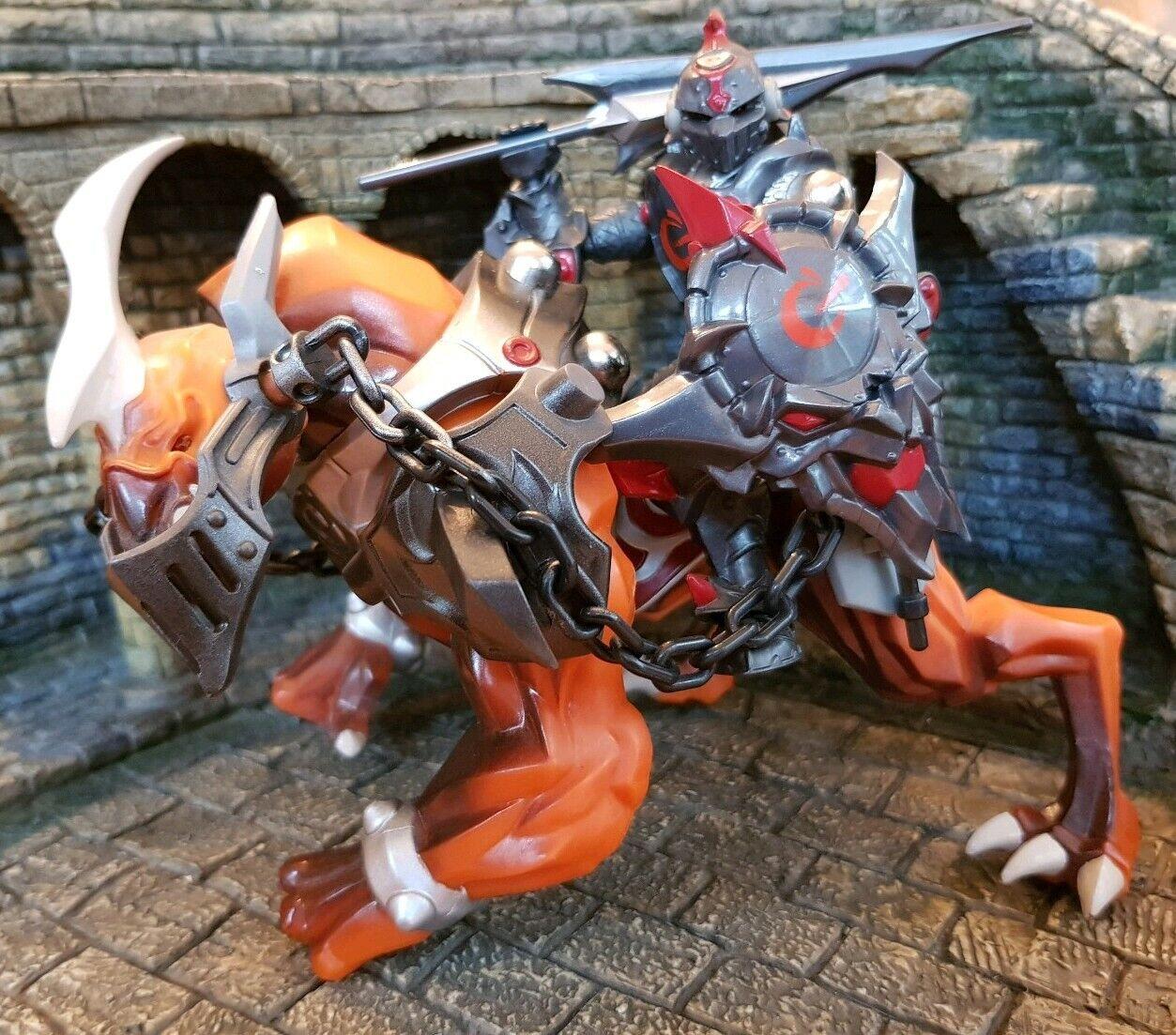 Mega Bloks Mag Warriors Battle Fyren Knight with Trudgecrawler Beast Rare