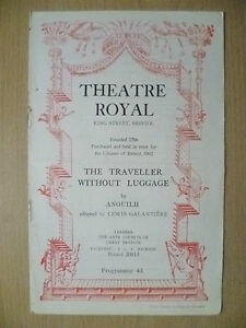 Theatre-Royal-Programme-1951-THE-TRAVELLER-WITHOUT-LUGGAGE-by-Anouilh