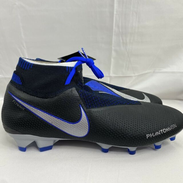 Nike Phantom VSN Vision Elite DF FG Soccer Cleats Black/Blue AO3262-004 Size 9.5