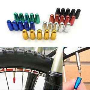 Alloy Presta Tyre Wheel Valve Dust Caps Covers MTB Bicycle Bike Cycle Purple