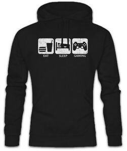 Sleep Gaming Informatiker Hoodie Ego Eat Divertimento Shooter Gamer Nerd Kapuzenpullover daASR