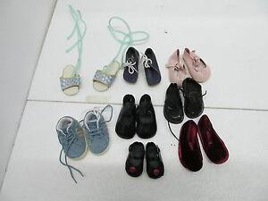 Mes-36762 8 paires de chaussures de poupée modernes Pour poupées de collection, l: 8-12 cm