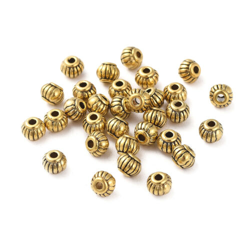200pc Antique Golden Tibetan Alloy Spacer Rondelle Beads Mini Metal Spacer 5x4mm