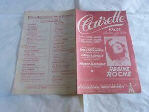 Regine-Rocca-Spartito-Clairette-Valse