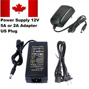 US-Plug-12V-5A-amp-2A-Power-Supply-Adapter-For-3528-amp-5050-SMC-RGB-Led-Strip-Light
