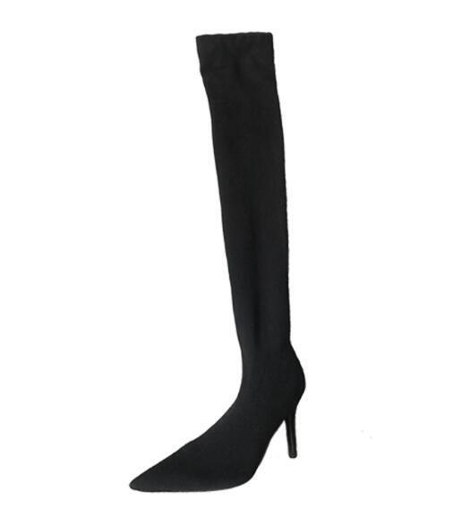 Damen Gestrickt Gestrickt Gestrickt Stretch-Stiefel Stilettos Socken Stiefel Overkneestiefel Stiefel cdfdd4