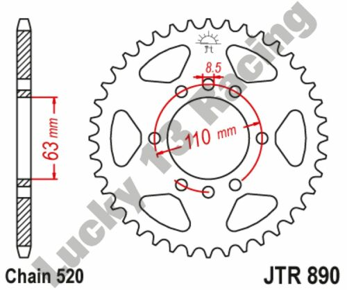 JT 45T 520 pitch rear sprocket for KTM Duke 125 390 RC 125 390 Husqvarna 401 18