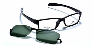 bd85bdc3e87 Details about Mens Sporty Eyeglass Frames Magnetic Polarized Clip-On  Driving Sunglasses TR90