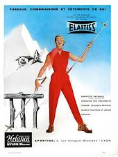 ▬► PUBLICITE ADVERTISING AD Helanca fuseaux ski vêtements Nylon mousse