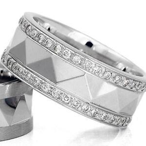 Silber-925-Trauringe-Eheringe-Verlobungsringe-mit-Gravur-und-Swarovski-Stein-D22