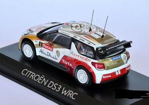 "DIE CAST /"" CITROEN DS3 WRC RALLYE MONTECARLO 2013 /"" SCALA 1//43"