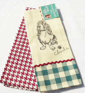 The-Pioneer-Woman-Kitchen-Towels-Set-of-2-One-with-Charlie-The-Basset-Hound-NWT