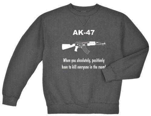 AK-47 sweatshirt Men/'s dark gray sweat shirt ak47 US Army Marines USMC