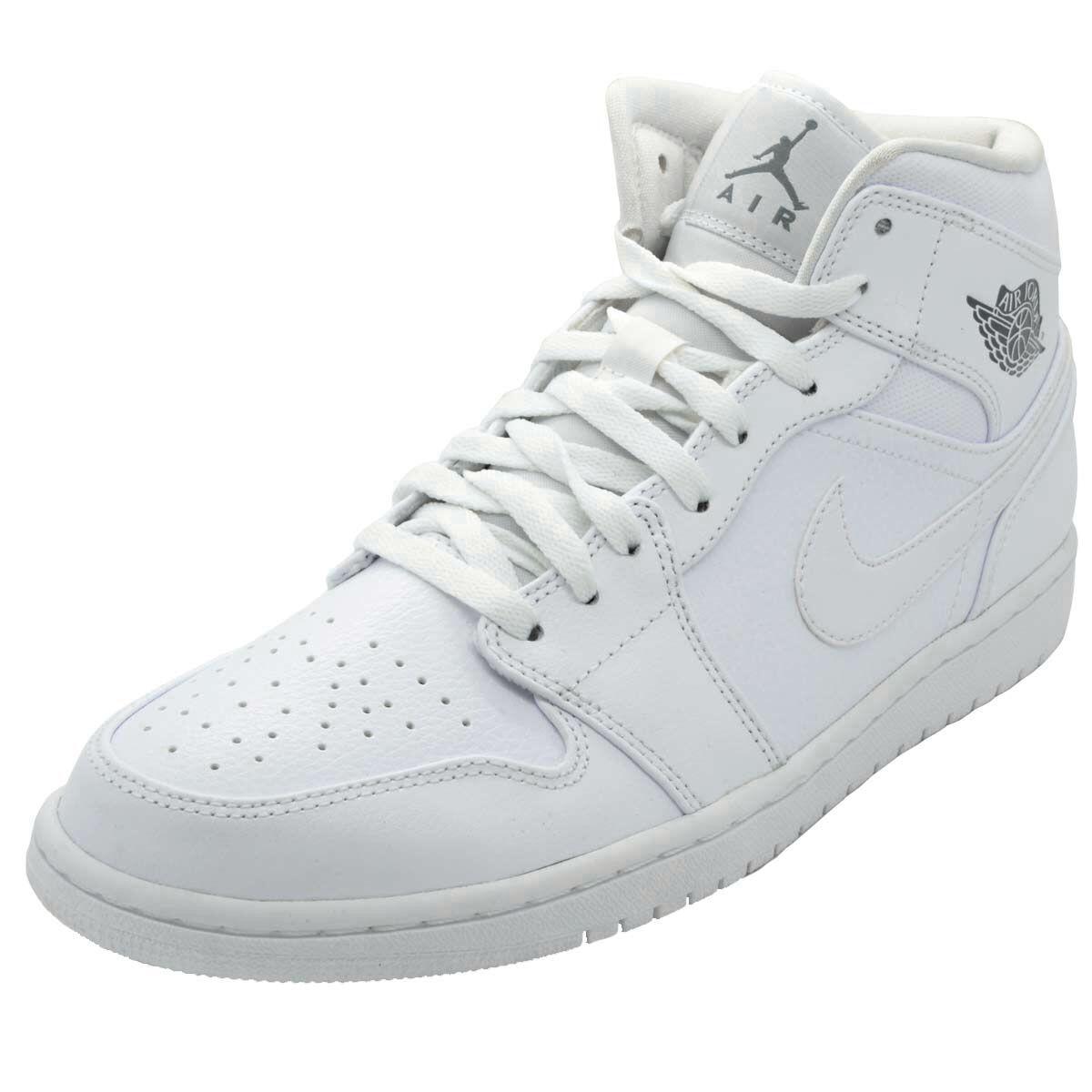 NIKE AIR JORDAN RETRO 1 MID White MENS Sneakers Trainers