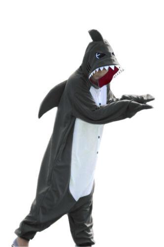 WOTOGOLD Animal Kigurumi One Piece Cosplay Costume Shark Unisex Adult Pajamas