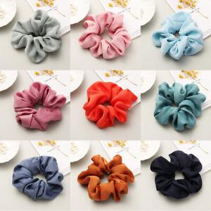 Women-Satin-Silk-Hair-Tie-Elastic-Scrunchies-Ponytail-Holder-Hair-Rope-Rings-New