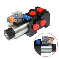 12 Volt Hydraulic Solenoid Operated Selector Diverter Valve 3 Plug 6 Port 25mpa