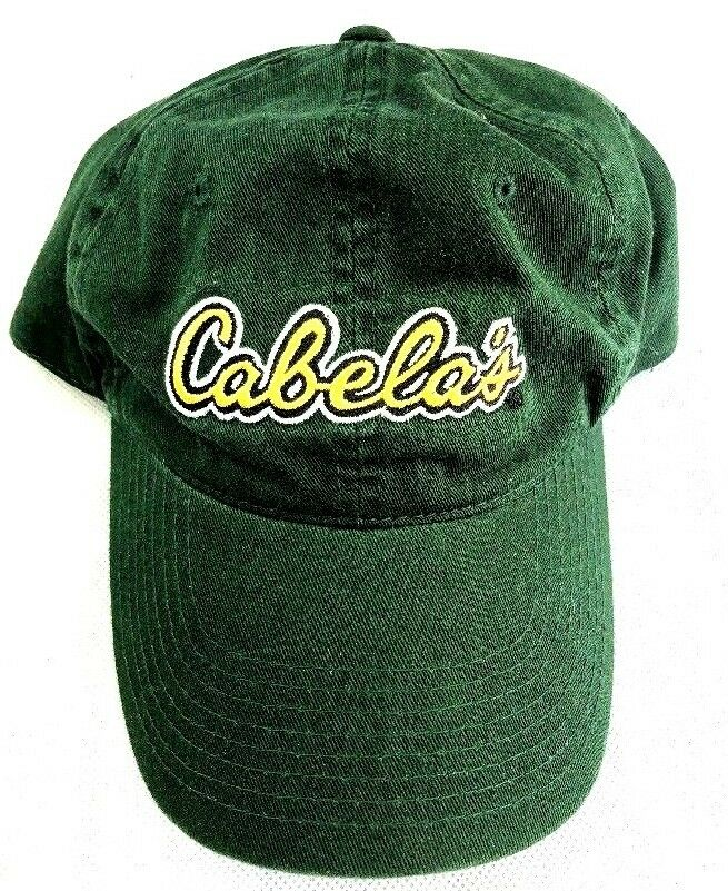 Green Cabela's Outdoor Sports Adjustable Embroidered Baseball hat cap Adjustable Sports Strap B 7449aa