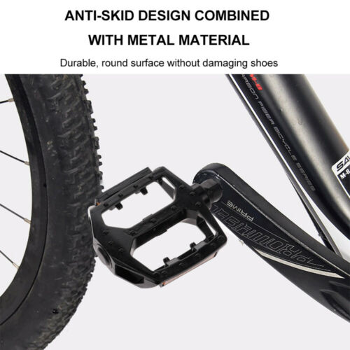 1 Pair Aluminium Alloy Bike Pedal Bicycle Cycle Rolling Ball Platform Pedals