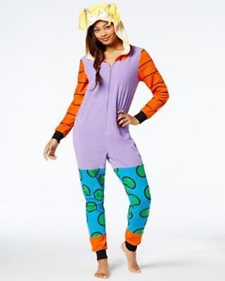 NEW Rugrats Angelica Women/'s One Piece S Pajama Fleece Hooded MSRP $70    R