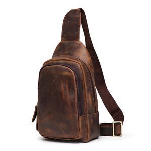 Genuine-Leather-Chest-Sling-Messenger-Shoulder-Cross-body-Bags-for-Men-Women