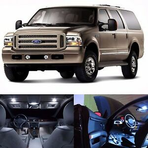 Led White Lights Interior Package Kit For Ford Excursion 2000 2005 14 Bulbs Ebay