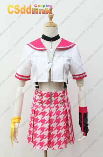 Persona 4 Dancing all Night Rise Cosplay Costume pink with headband