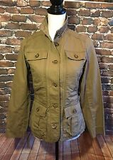Woman's Size XS Eddie Bauer Safari Green Military Jacket