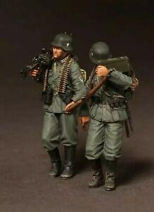1-35-Resin-Figure-Model-Kit-World-War-Two-German-Machine-Gun-Troops-WWII